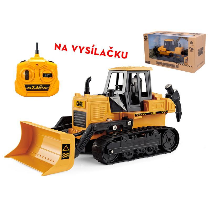 R/C buldozer 33cm na baterie 2,4GHz v krabičce