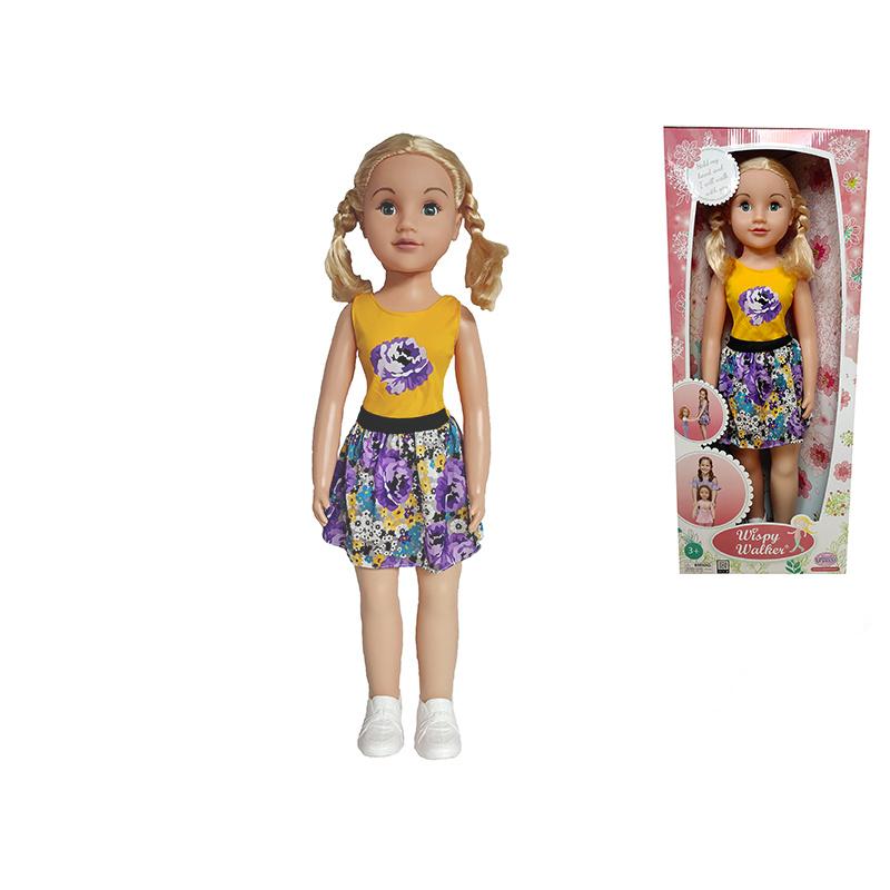 Panenka chodící 70cm blondýnka v krabičce