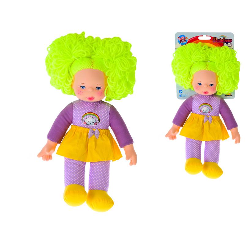 Lalka 35 cm z kolorowymi włosami 24m+
