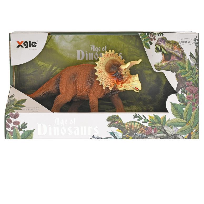 Dinosaurus Triceratops 18cm v krabičke