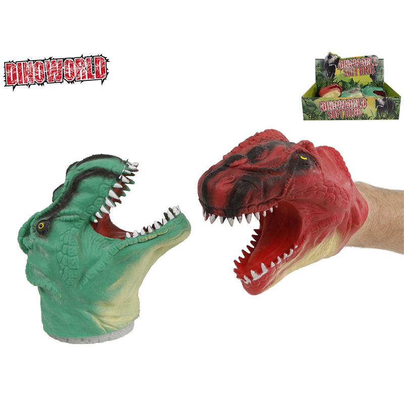 Gumowa pacynka dinozaur 14 cm 2 wzory 12 szt. w DBX