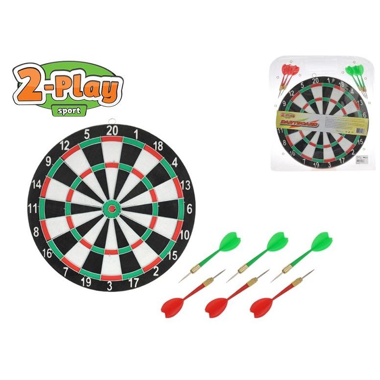 Terč 30cm 2-Play se šipkami 6ks v blistru
