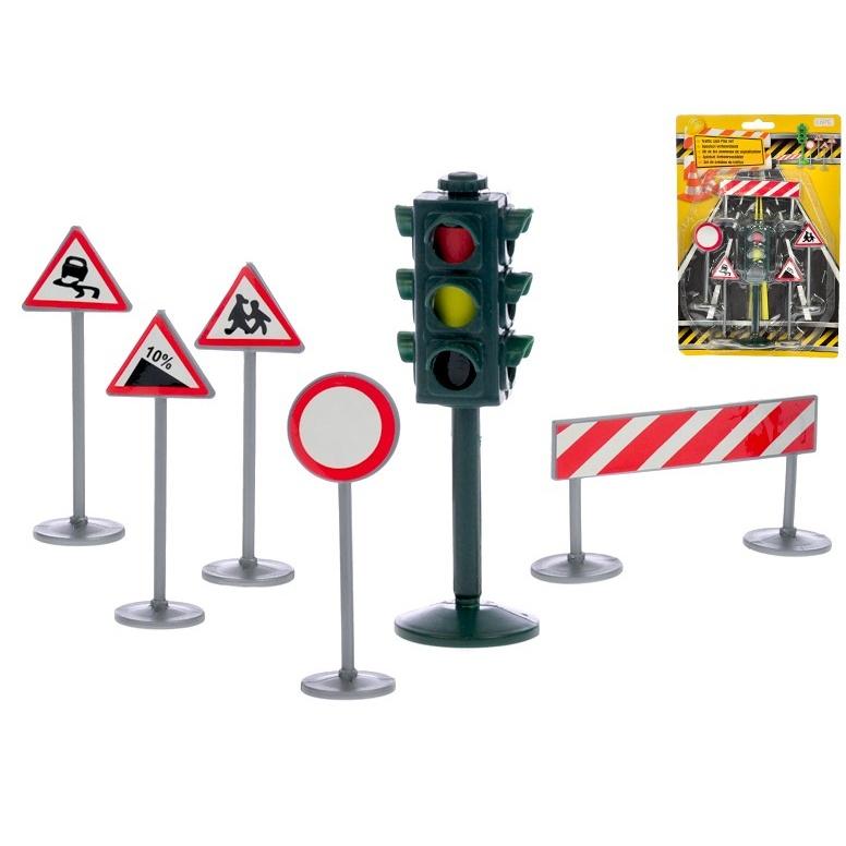 Sada dopravního značení se semaforem 6 ks na kartě