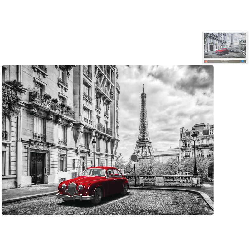 Puzzle samochód czerwony 1000 elementów 70x50 cm w pudełku