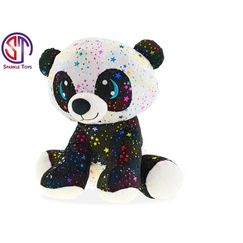 Panda Star Sparkle plyšová 35cm sediaci 0m +