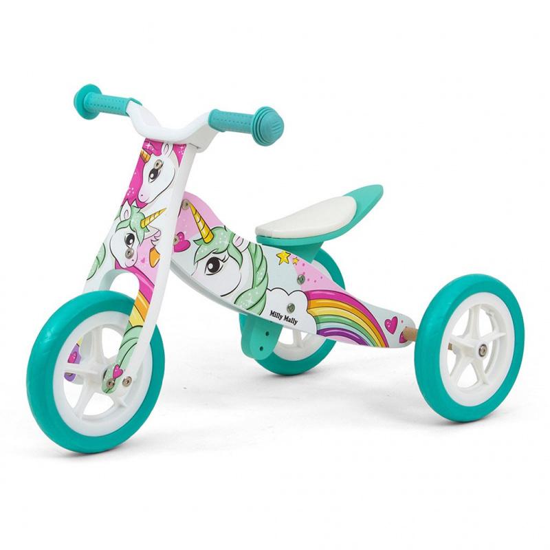 Dětské multifunkční odrážedlo 2v1 Milly Mally Look Unicorn