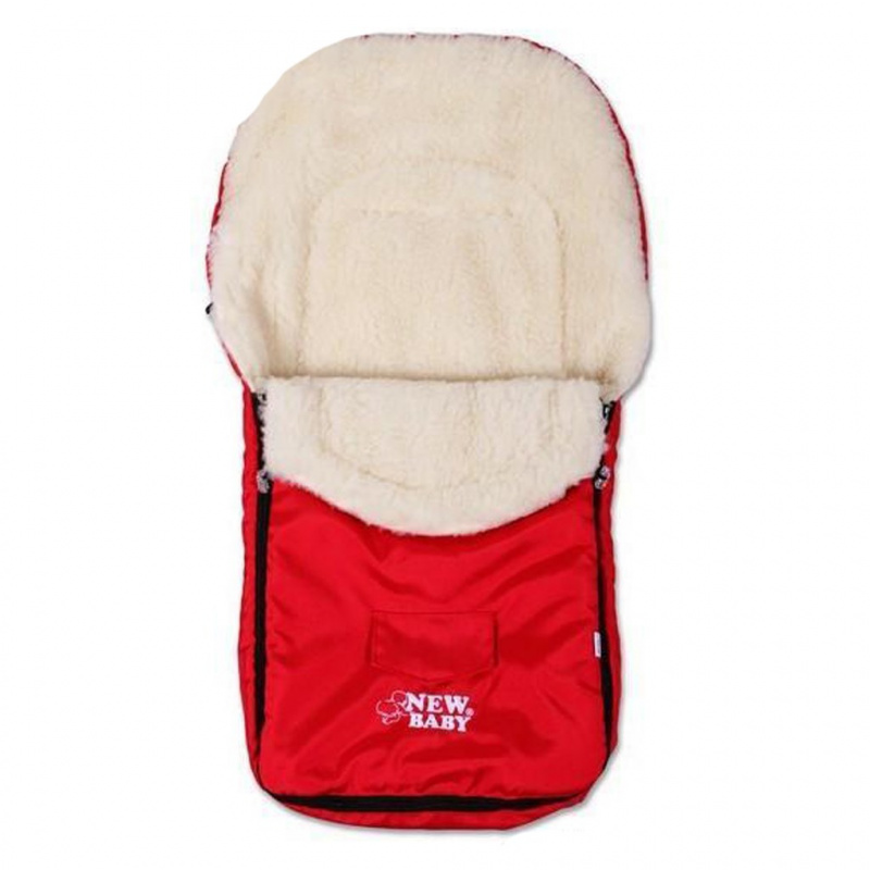Zimní fusak New Baby Classic Wool red