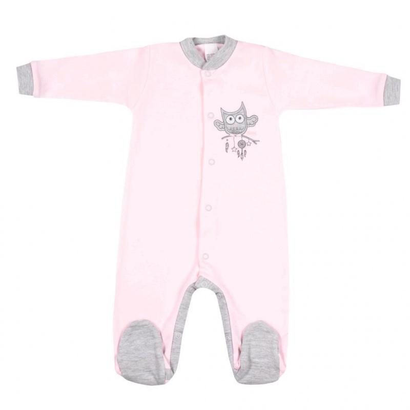 Kombinezon niemowlęcy New Baby Owl różowy