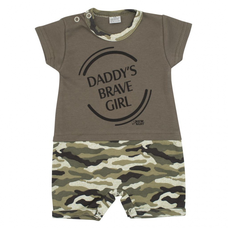 Kojenecký letní overal New Baby Army girl