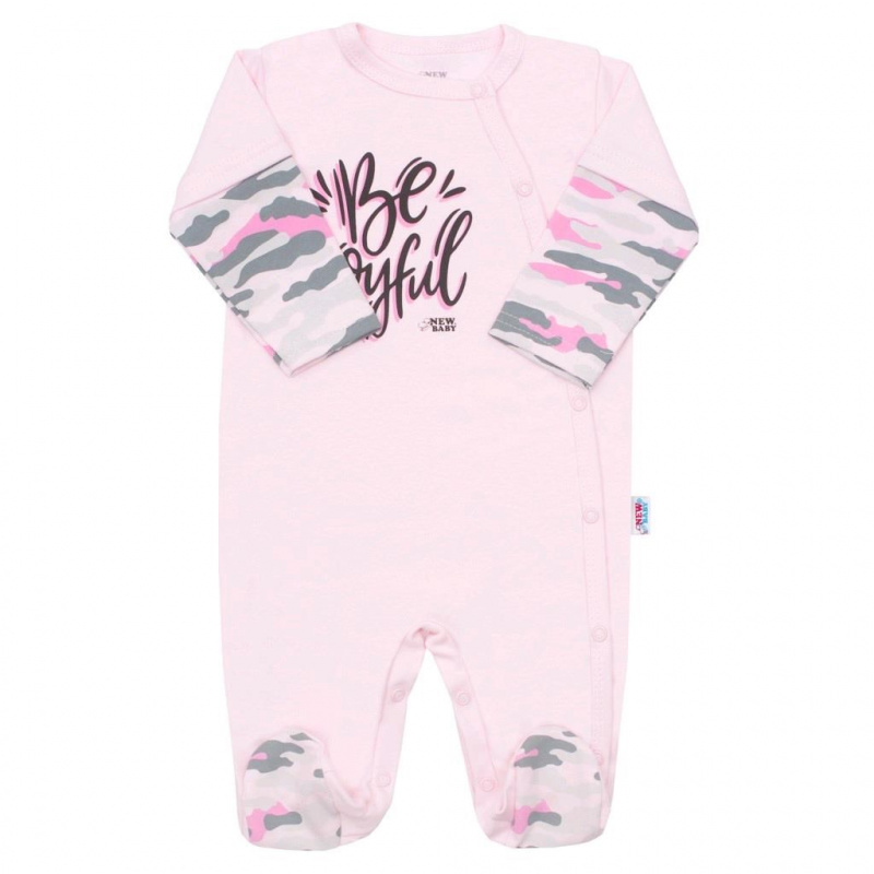 Dojčenský overal New Baby With Love ružový