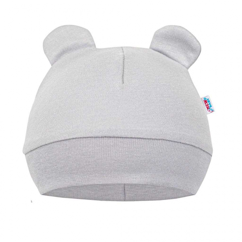 Kojenecká bavlněná čepička New Baby Cute Bear