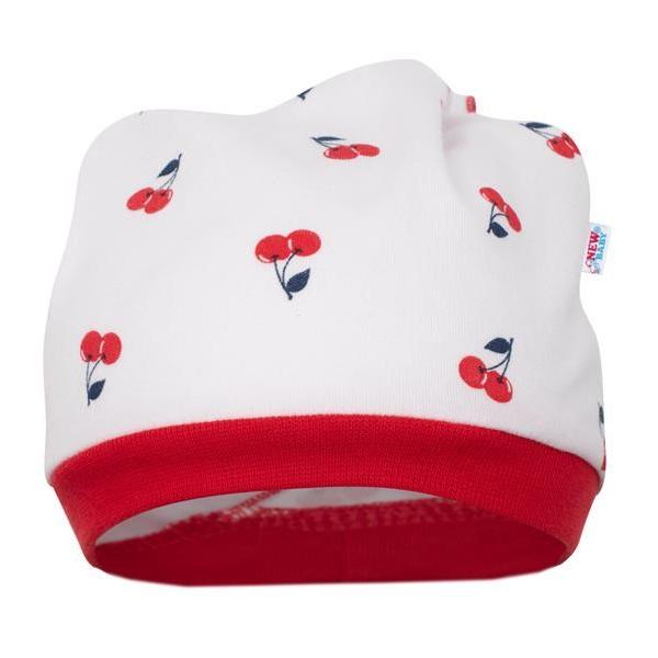 Kojenecká bavlněná čepička-šátek New Baby Cherry