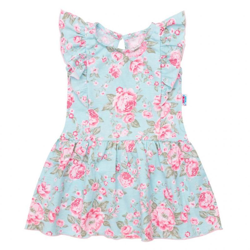 Kojenecké letní bavlněné šatičky New Baby Roses