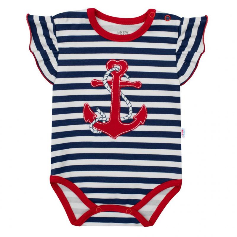 Holčičí body s krátkým rukávem New Baby Marine