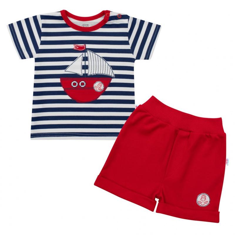 Dojčenská súprava tričko a kraťasky New Baby Marine