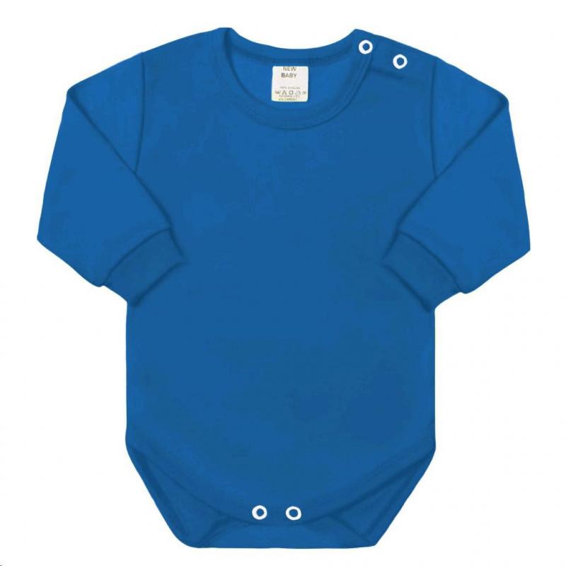 Dojčenské body s dlhým rukávom New Baby modré