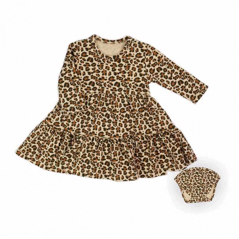 Dojčenské šatôčky-body s dlhým rukávom Nicol Mia