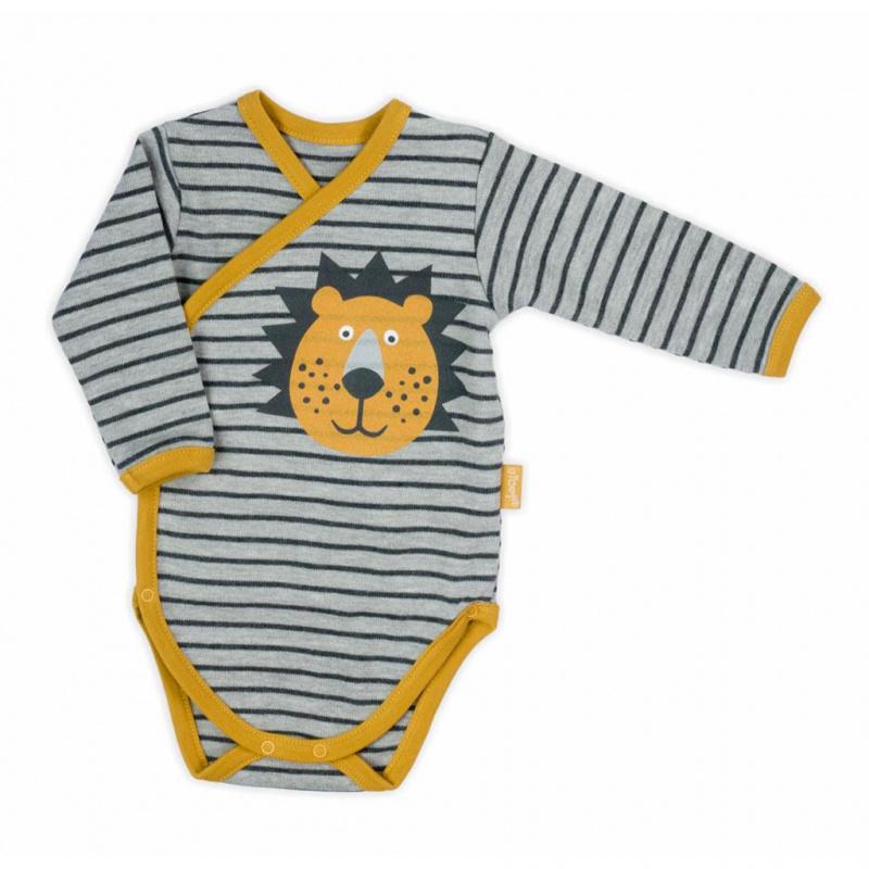 Dojčenské bavlnené celorozopínací body Nicol Prince Lion