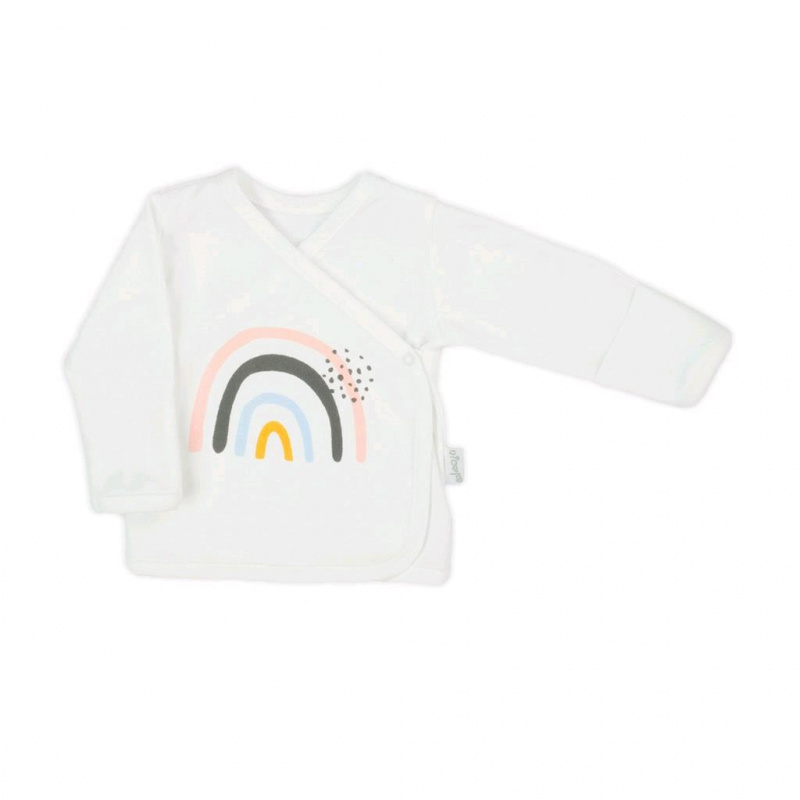 Dojčenská bavlnená košieľka Nicol Rainbow