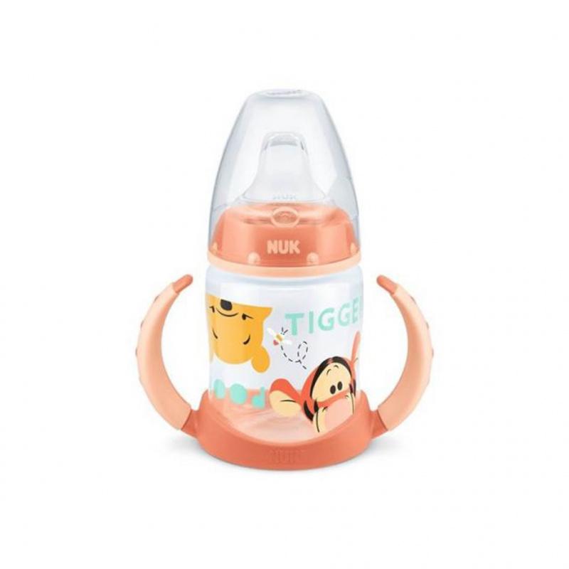 Kojenecká láhev na učení NUK 150 ml Disney Medvídek Pu oranžová