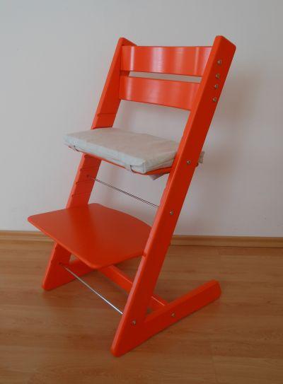 Dětská rostoucí židle JITRO KLASIK oranžová