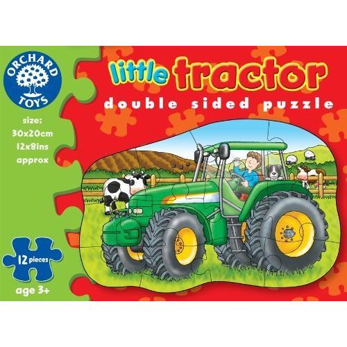Orchard toys - Oboustranné puzzle traktor 12 dílků