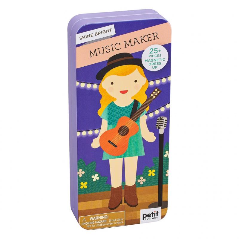 Petitcollage Magnetické puzzle Muzikantka