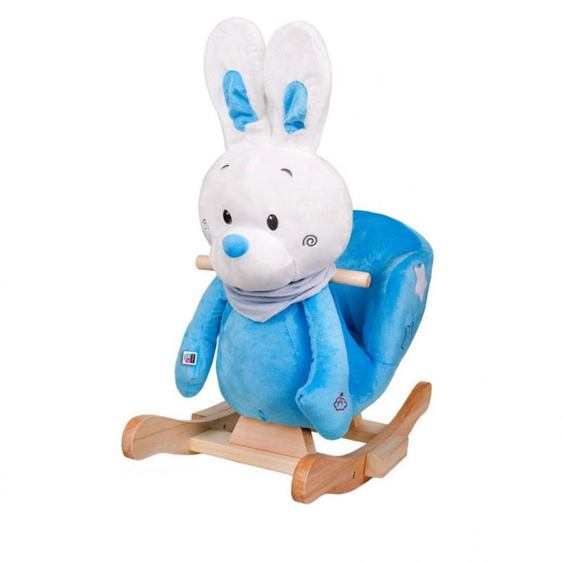 Zabawka na biegunach PlayTo 18m+ Króliczek Niebieski