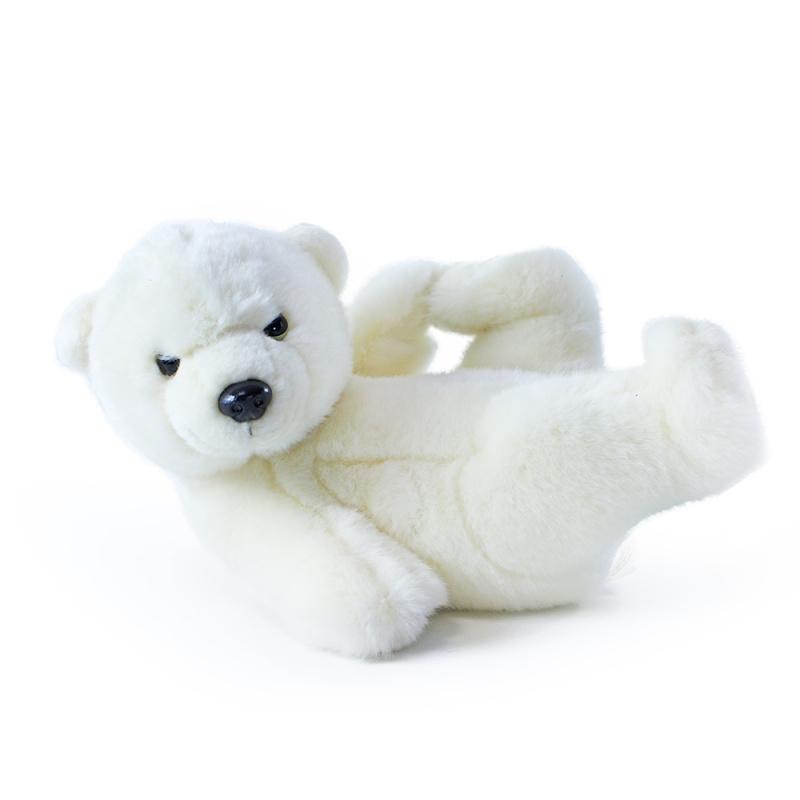 Plyšový lední medvěd ležící, 25 cm