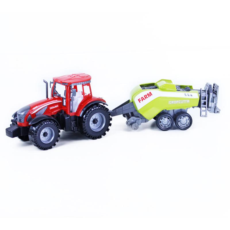 Traktor plastový s balíkovačem