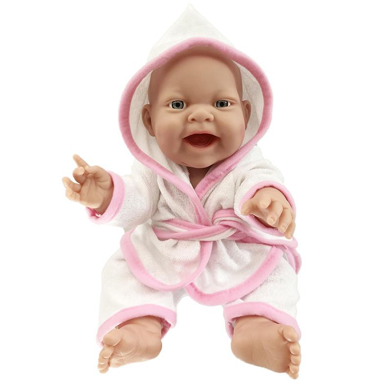 Bábika mimino v župane 38 cm