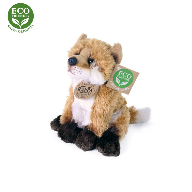 Plyšová líška sediaca, 15 cm, ECO-FRIENDLY
