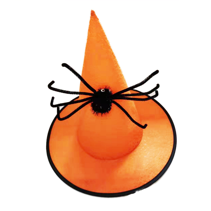Czarownica / Halloweenowy kapelusz z pająkiem