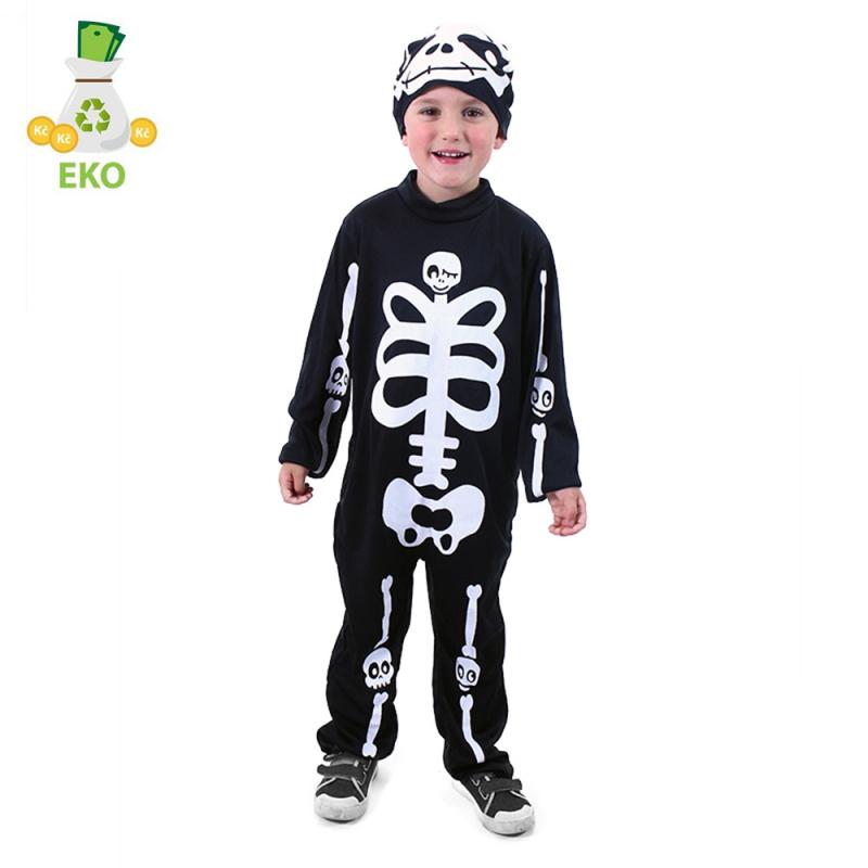 Kostium szkielet dziecięcy z czapką (M) EKO