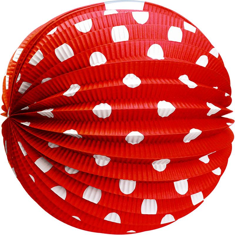Lampion papierowy czerwony 25 cm