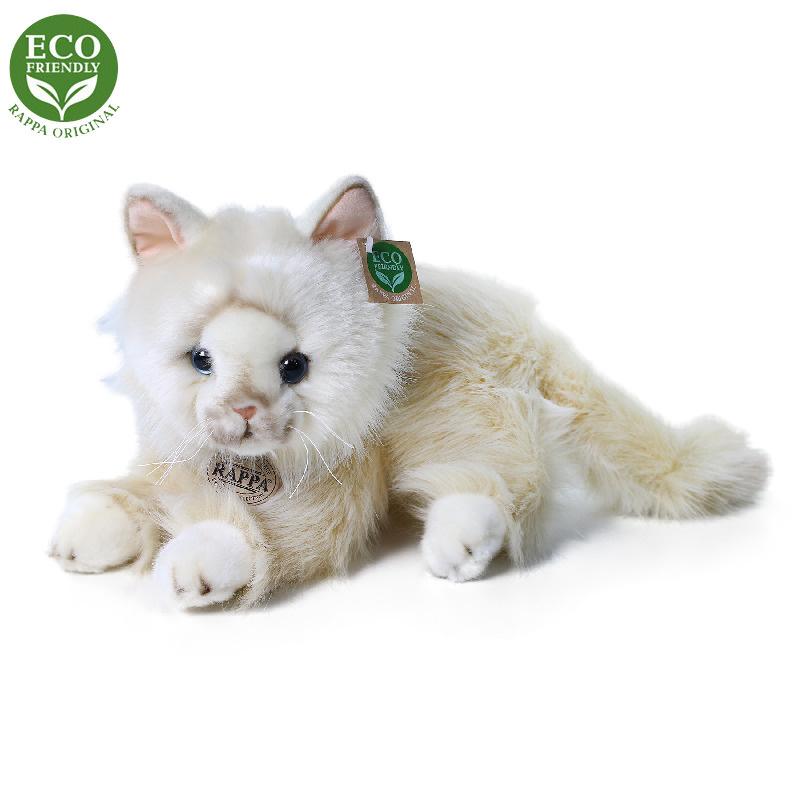 Plyšová perská kočka béžová ležící 30 cm