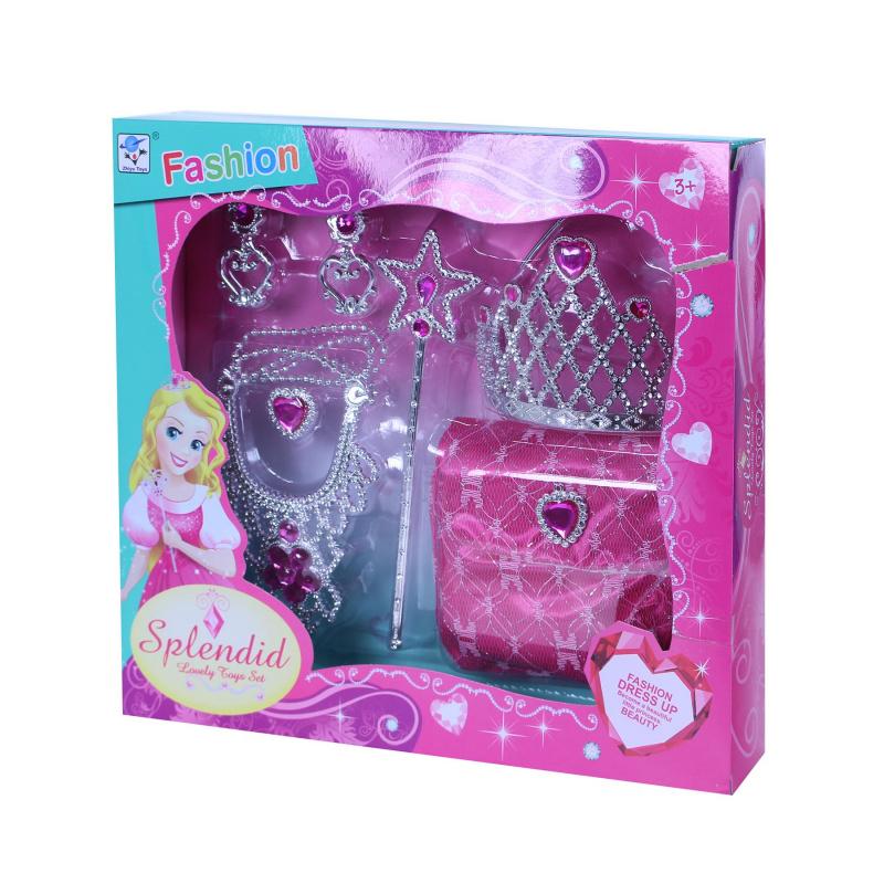 Sada princezna s taškou růžová
