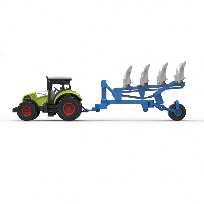 Traktor plastový se zvukem a světlem s vlečkou pro orbu