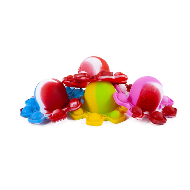 POP IT chobotnice duhová 9 bublin