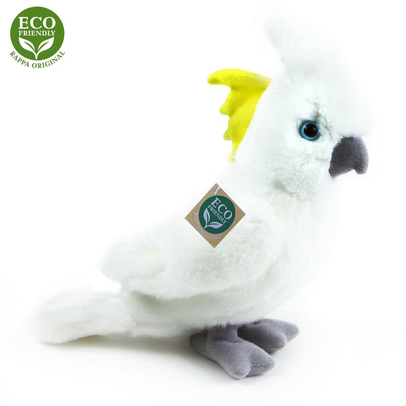 Pluszowa papuga kakadu 17 cm EKOLOGICZNA