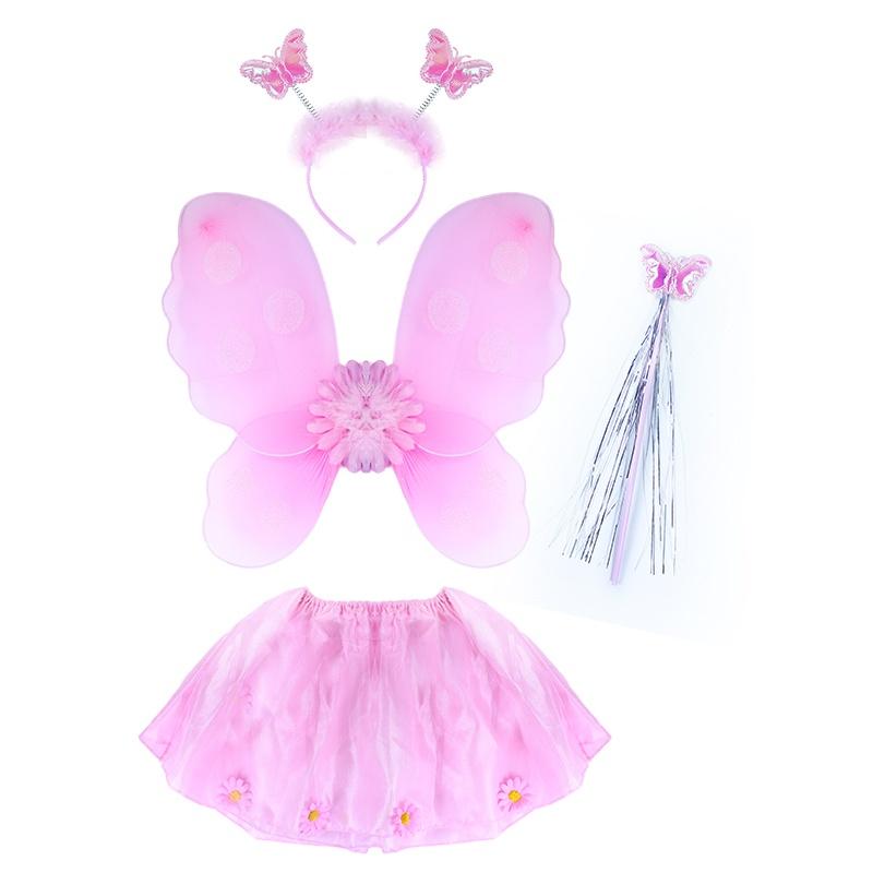 Karnevalový kostým květinka s křídly, 4 ks