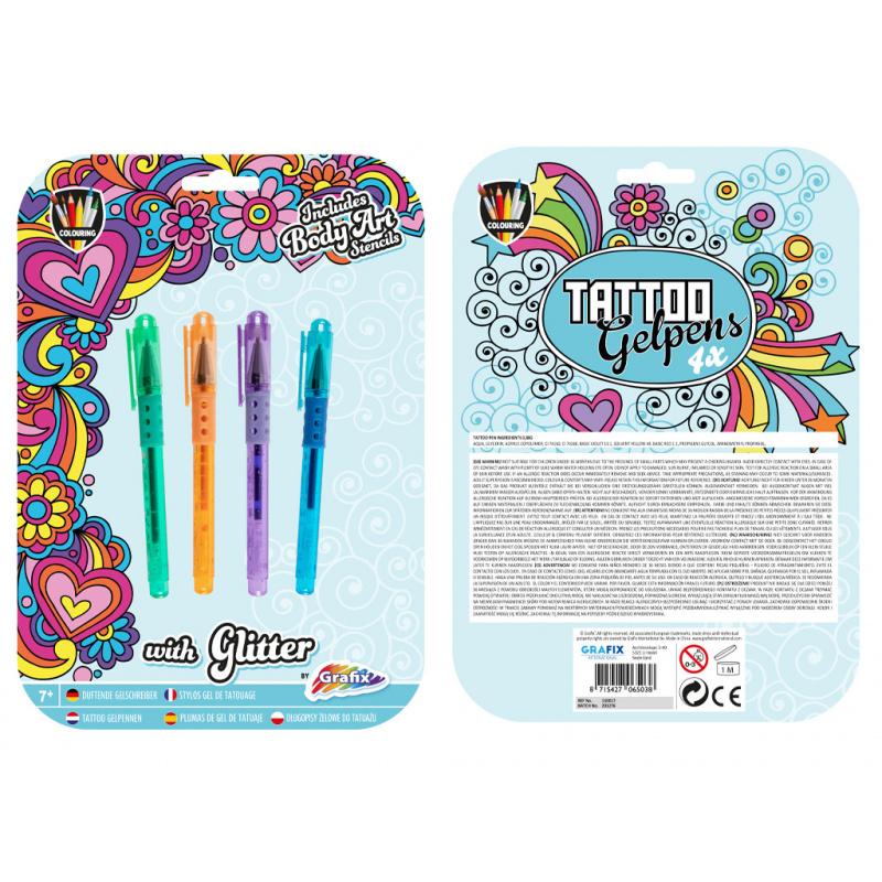 Długopisy żelowe do tatuażu