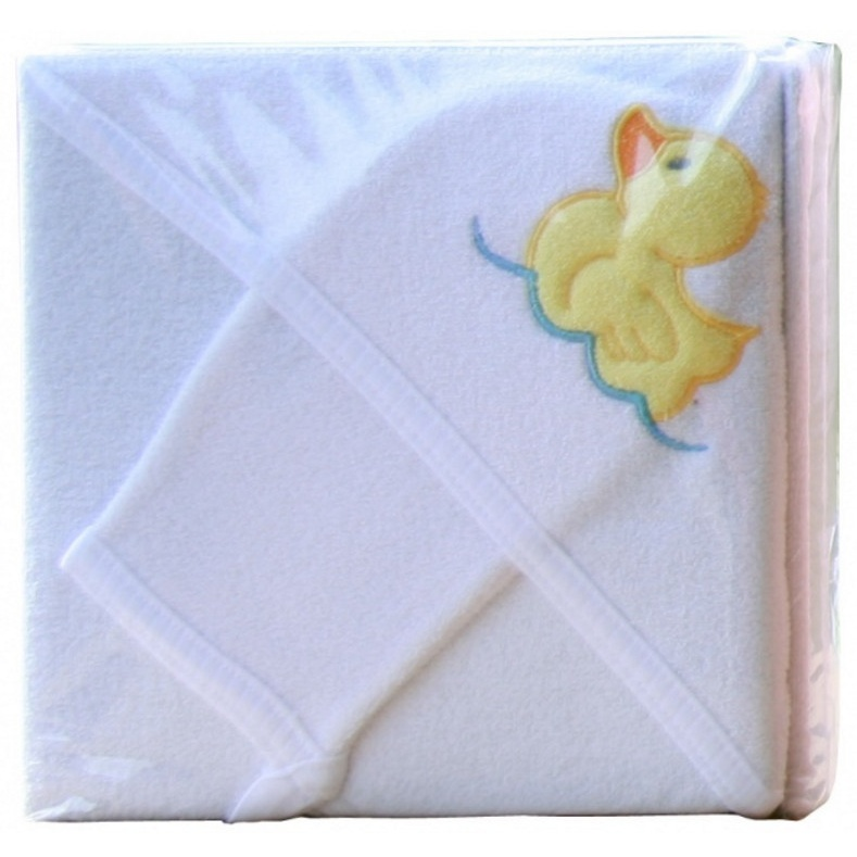 Froté uterák - Scarlett s kapucňou - biela