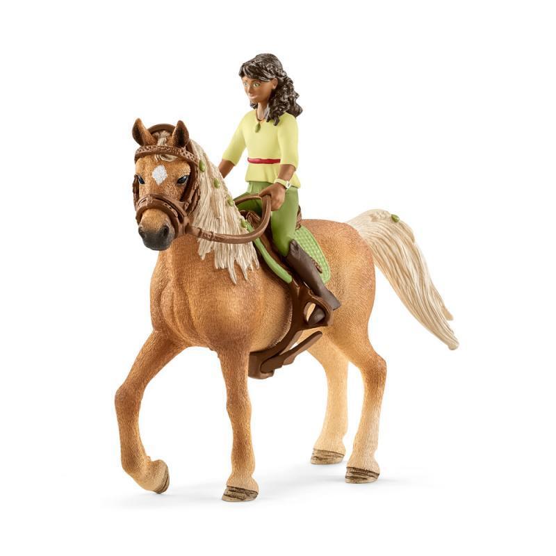 Černovláska Sarah a kůň Mystery