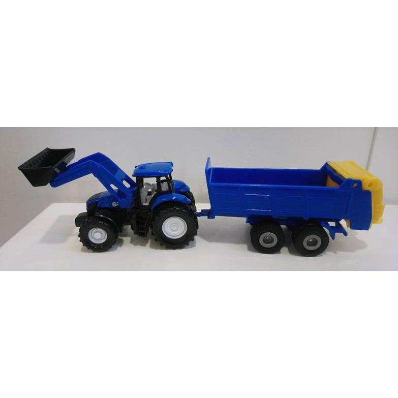 Siku Blister - traktor s predným nakladačom a vlekom