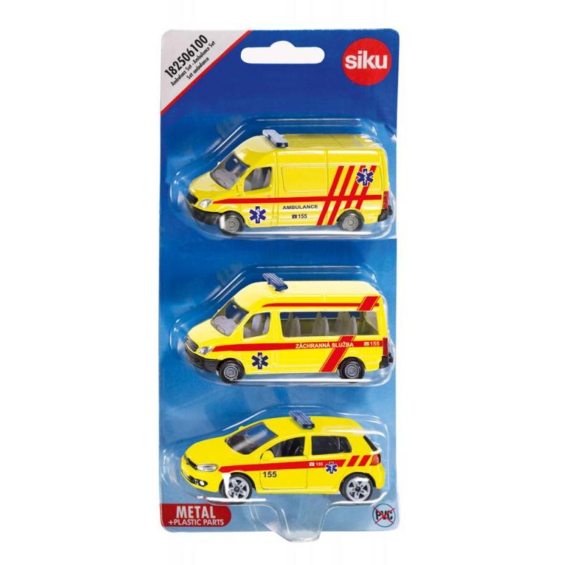 SIKU česká verze - set ambulance sada 3 aut