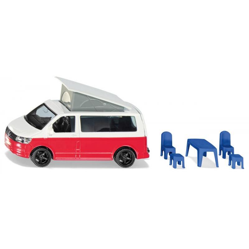 Siku Super - VW T6 California s pohyblivou strechou a príslušenstvom