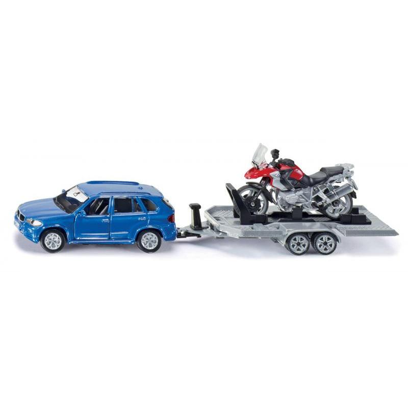 Siku Super - Auto s ťahačom a motorkou