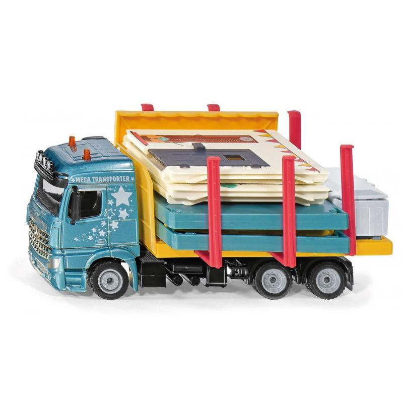Siku Super - nákladné auto prevážajúce montovaný dom 1:50