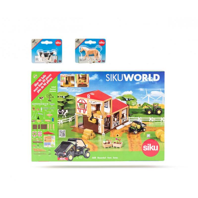 SIKU World - farma, 2 kone a 2 kravy